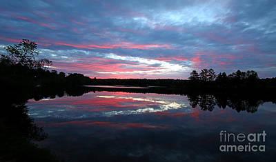 Jft Photograph - Prat Pond Sunrise by James F Towne