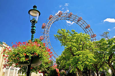 Photograph - Prater Riesenrad Gianf Ferris Wheel In Vienna View by Brch Photography