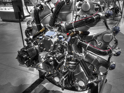Aircraft Engine Component Photograph - Pratt And Whitney  Engine Aeronautics by John Straton