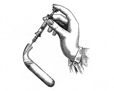 1833 Photograph - Pravaz Syringe, 1833 by Wellcome Images