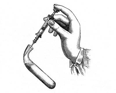 Pravaz Syringe, 1833 Art Print by Wellcome Images
