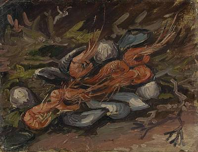 Painting - Prawns And Mussels Paris, September - November 1886 Vincent Van Gogh 1853  1890 by Artistic Panda