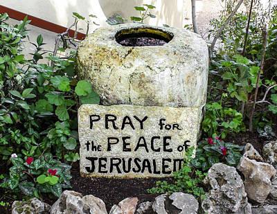 Pray For The Peace Of Jerusalem Art Print
