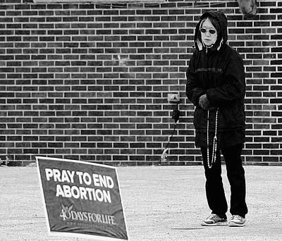 Pray To End Abortion Art Print