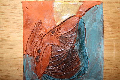 Ceramic Art - Prayer 10 - Tile by Gloria Ssali