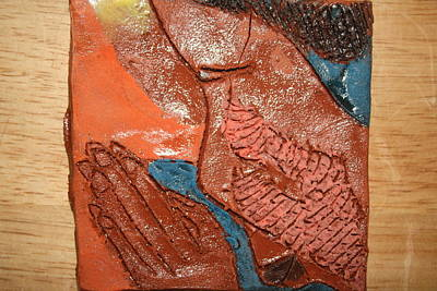 Ceramic Art - Prayer 12 - Tile by Gloria Ssali