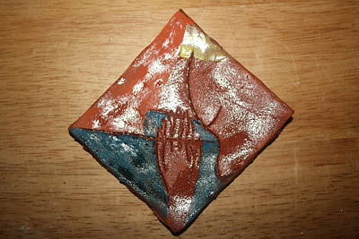 Ceramic Art - Prayer 16 - Tile by Gloria Ssali