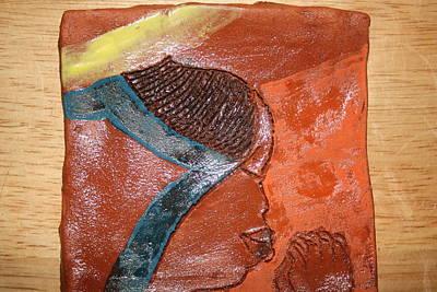 Ceramic Art - Prayer 17 - Tile by Gloria Ssali
