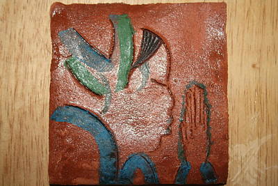 Ceramic Art - Prayer 18 - Tile by Gloria Ssali