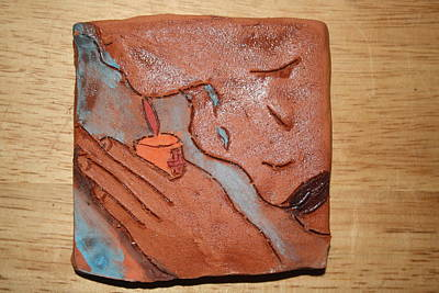 Ceramic Art - Prayer 22 - Tile by Gloria Ssali