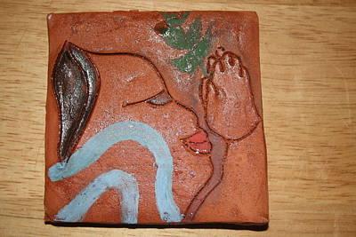 Ceramic Art - Prayer 23 - Tile by Gloria Ssali
