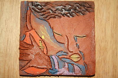 Ceramic Art - Prayer 28 - Tile by Gloria Ssali