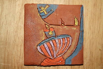 Ceramic Art - Prayer 29 - Tile by Gloria Ssali