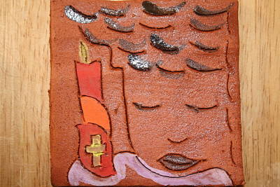 Ceramic Art - Prayer 31 - Tile by Gloria Ssali