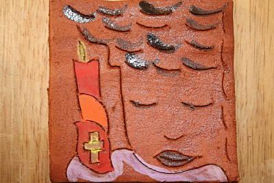 Ceramic Art - Prayer 31 - Tile by Gloria Ssali