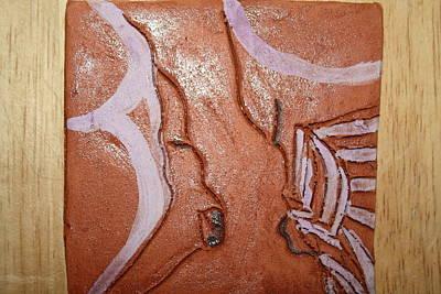 Ceramic Art - Prayer 32 - Tile by Gloria Ssali