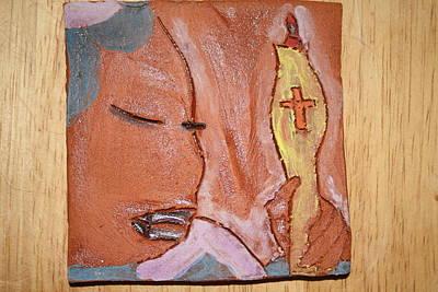 Ceramic Art - Prayer 33 - Tile by Gloria Ssali