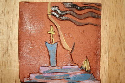 Ceramic Art - Prayer 34 - Tile by Gloria Ssali