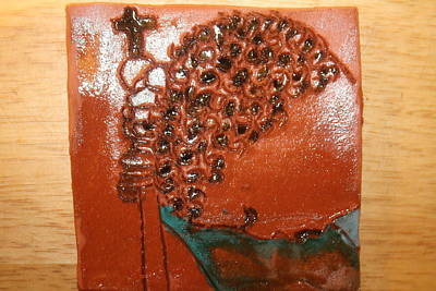 Ceramic Art - Prayer 38 - Tile by Gloria Ssali