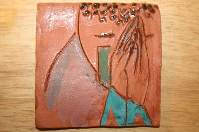 Ceramic Art - Prayer 39 - Tile by Gloria Ssali