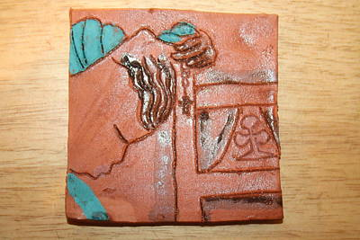 Ceramic Art - Prayer 40 - Tile by Gloria Ssali