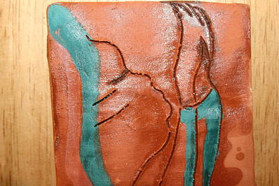 Ceramic Art - Prayer 42 - Tile by Gloria Ssali