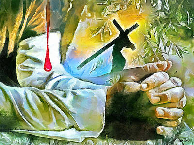 Painting - Prayer And The Blood by Wayne Pascall