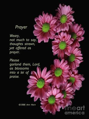 Photograph - Prayer by Ann Horn
