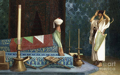 Gypsy School Painting - Prayer At The Sultan's Room  The Grief Of Akubar  by Jean Leon Gerome