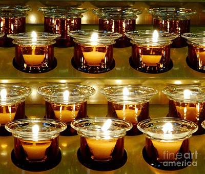 Photograph - Prayer Candles by Paul Wilford