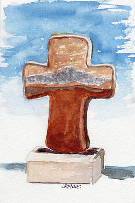 Painting - Prayer Cross by Julie Maas