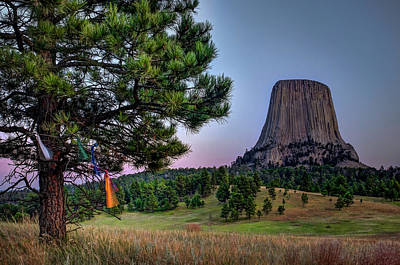 Photograph - Prayer Flags At Devils Tower by Thomas Gaitley