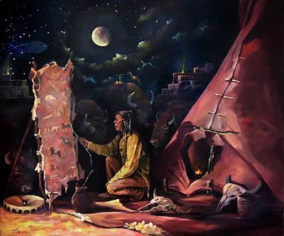 Climate Change Painting - Prayer For The Protectors by Nancy Griswold
