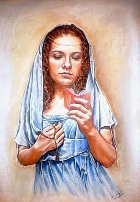 Prayer Art Print by Gordana Dokic Segedin