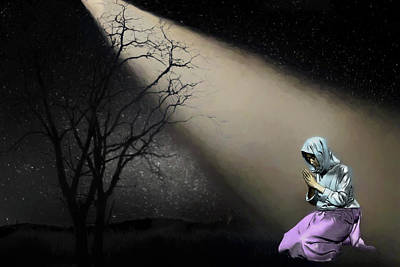 Digital Art - Prayer by John Haldane
