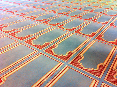 Prayer Mats Printed On Mosque Carpet Art Print