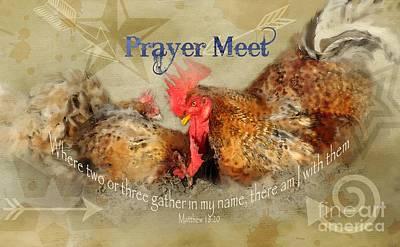 Bathe Digital Art - Prayer Meet - Verse by Anita Faye