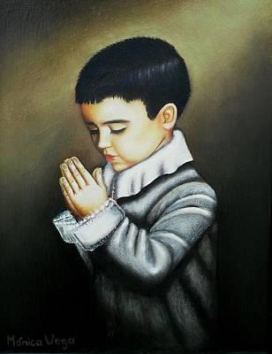Ear Cuff Painting - Prayer by Monica  Vega
