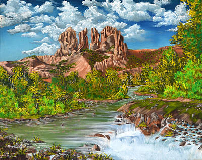 Lake Painting - Prayer Mountain by Vincent Keele