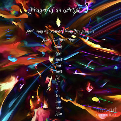 Digital Art - Prayer Of An Artist 2 by Margie Chapman