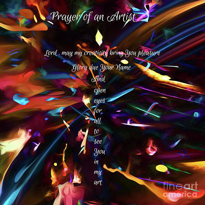 Digital Art - Prayer Of An Artist by Margie Chapman