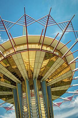 Photograph - Prayer Tower Tulsa Oklahoma - Colorful Oru by Gregory Ballos