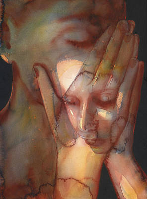 Crying Painting - Prayer Two by Graham Dean