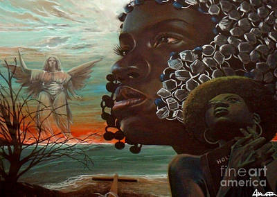 Painting - Prayer Warrior by Addonis Parker
