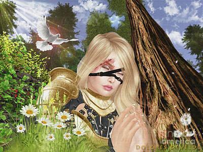 Digital Art - Prayer Warrior by Dolores Develde