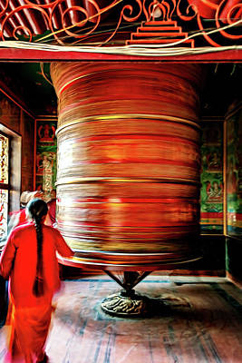 Photograph - Prayer Wheel by Maria Coulson