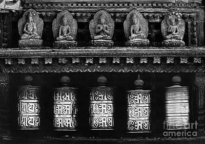 Photograph - Prayer Wheels - Swayambunath Nepal by Craig Lovell