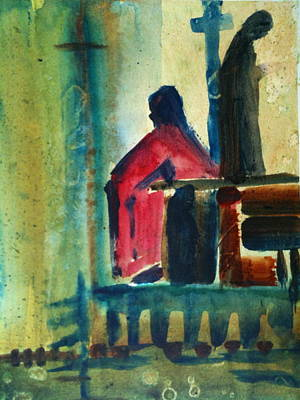 Painting - Prayerful Moment by Laurie Salmela