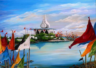 Hindu Temple Painting - Prayers At Waterloo by Karin  Dawn Kelshall- Best