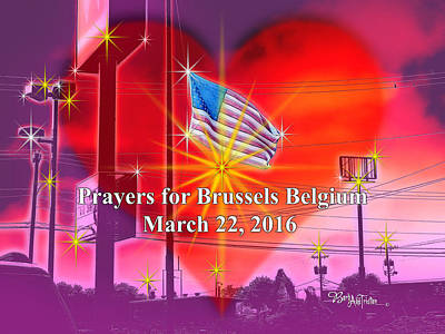 Photograph - Prayers For Brussels #9726_4 by Barbara Tristan